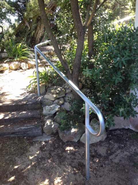 Handrails in the Garden